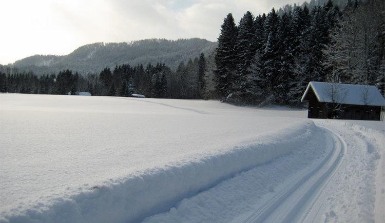 Bei geeigneter Schneelage ist Scharnstein mit den Almtalloipen ein Langlaufparadies! (© Tourismusverband Almtal-Salzkammergut)
