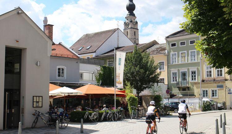 Radfahrer in Braunau am Inn