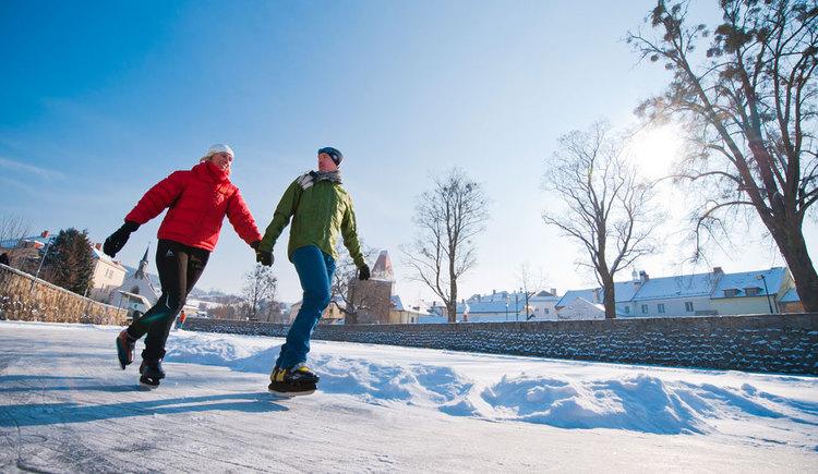 Eislaufen in Freistadt (© Tourismusverband Mühlviertler Kernland/Erber)