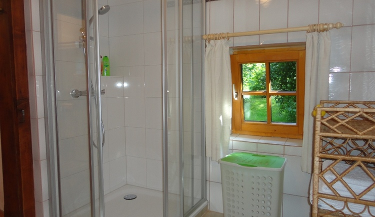 Bathroom with shower.\n