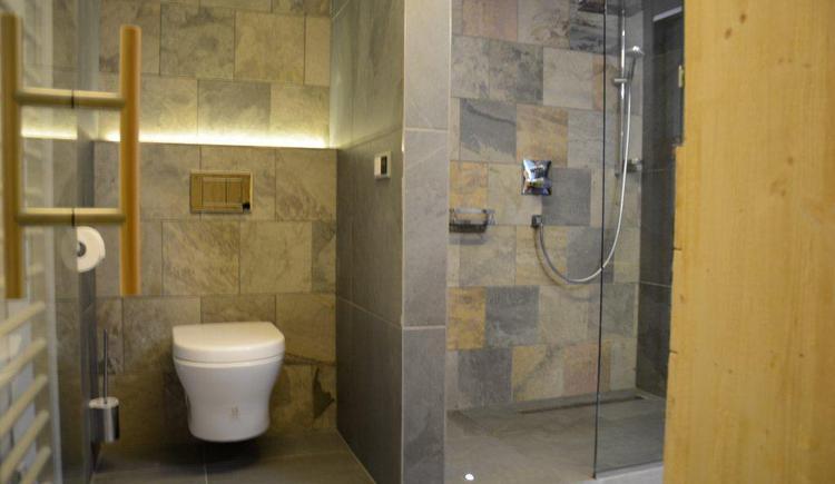 Bathroom of apartment 3 (© Bramsauerhof Faistenau)