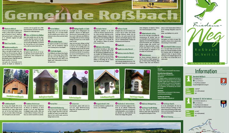 Friedens-Weg in Rossbach und St. Veit im Innkreis