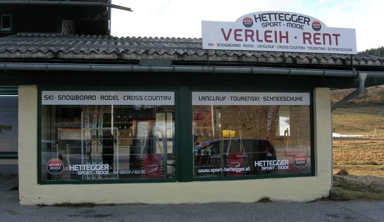 Skiverleih Sport 2000 Hettegger. (© Hannes Hettegger)