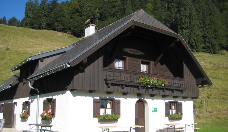 Ramsauhütte/Sommerbetrieb Mai/Mitte Oktober (© Franz und Michaela Leitgeb)