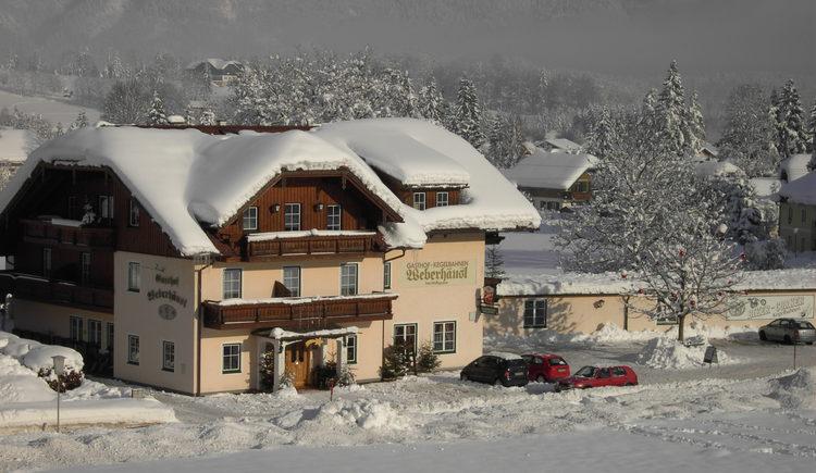 Gasthof Weberhäusl im Winter. (© Christine Wolfsgruber)