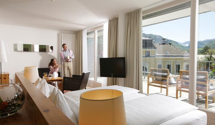 Salzprinzessin - Panorama Suite - Wellnessurlaub im Salzkammergut - Wellnesshotel Villa Seilern - Hotel in Bad Ischl (© www.villaseilern.at)