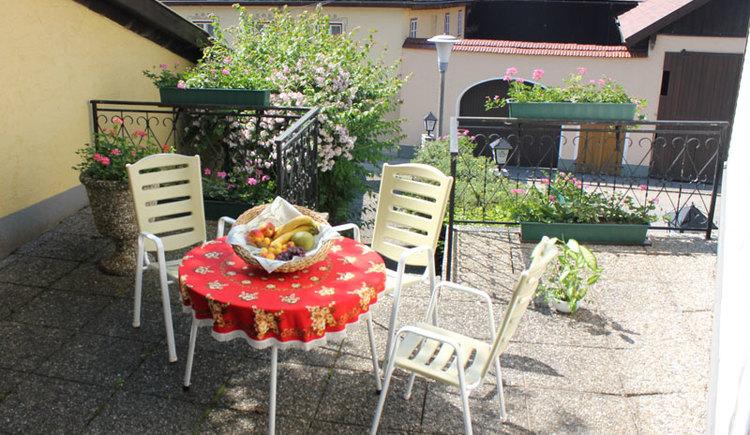 Terrasse Gasthaus Stampf Attergau - Salzkammergut
