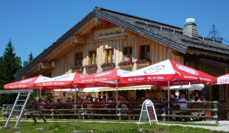 Der Almgasthaus Zur Blonden Hütte (© Peter Pranieß)