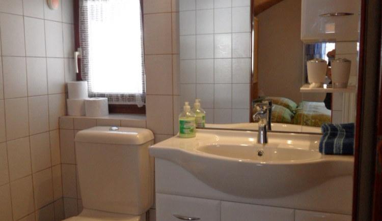 Badezimmer der Ferienwohnung Cijan Silvia.