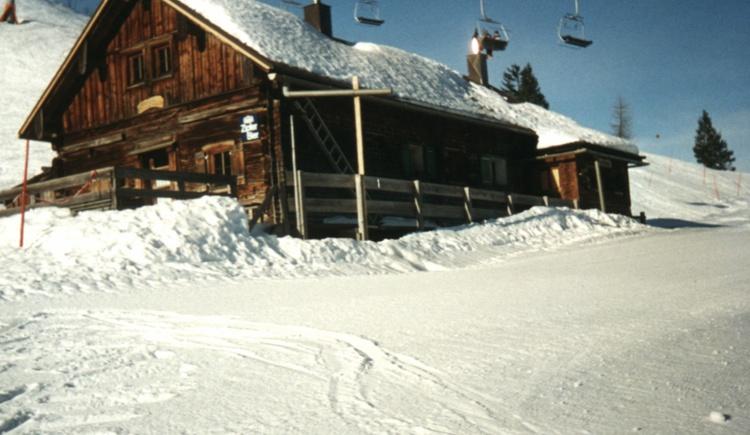 Die Breininghütte im Winter. (© Breining Hütte)