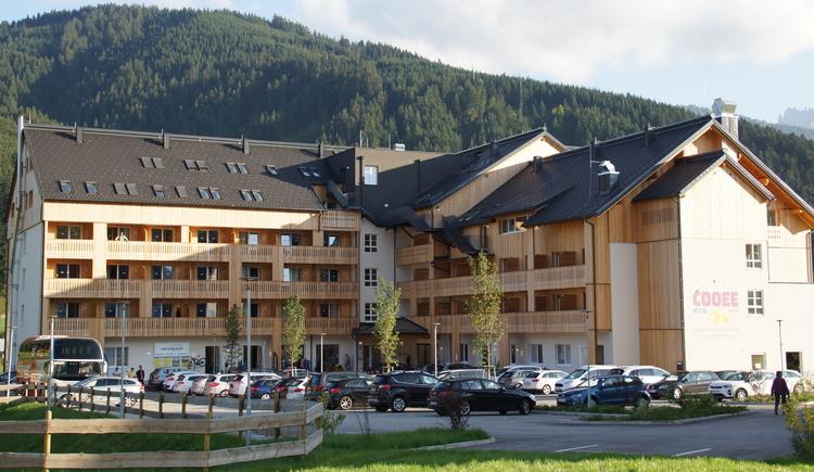Außenansicht Cooee Alpin Hotel und Dachstein Mountain Appartements