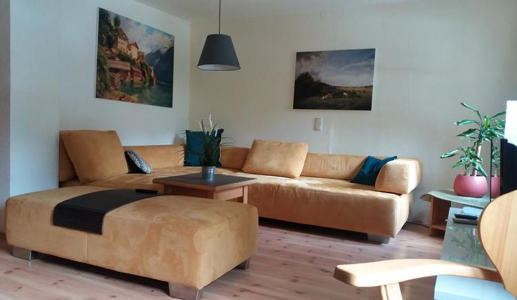 The living area at Apartment Hallstatt invites you to comfortable hours.
