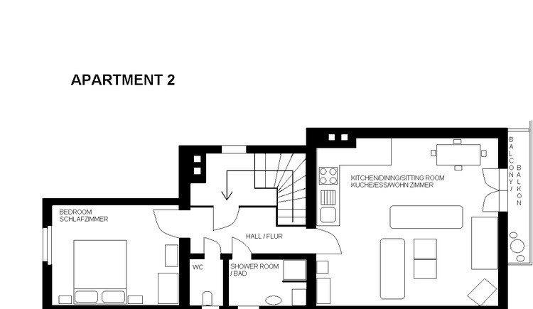 Apartment 2, layout