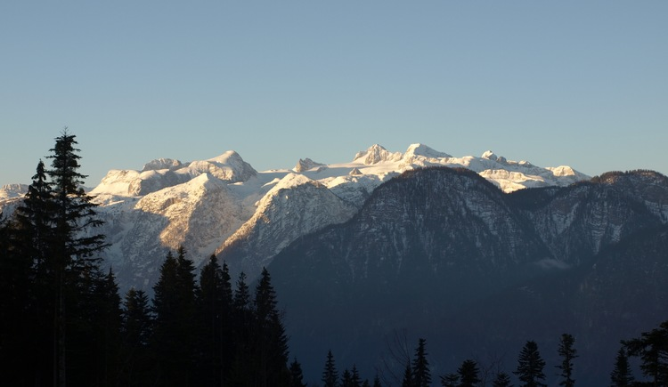 Panoramic view of the Dachstein mountains