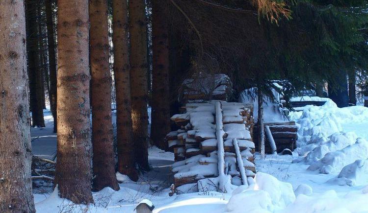 Holzplatz im Winter (© Privat)