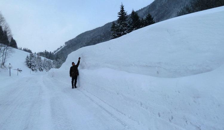 Hier liegt der Schnee meterhoch!