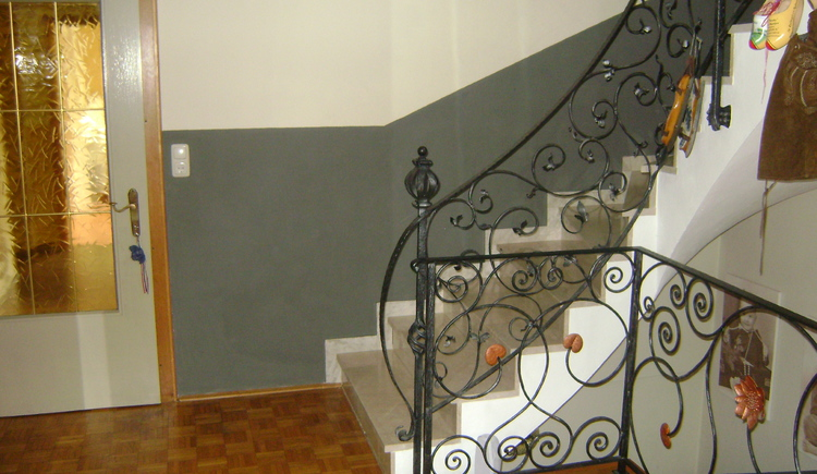 Spacious, friendly entrance and staircase to the apartments