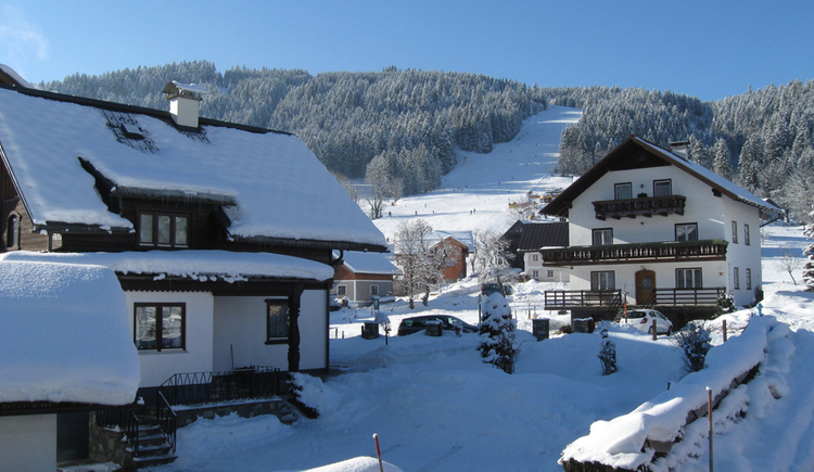 Apartment Neuwirt with view on the ski slope.
