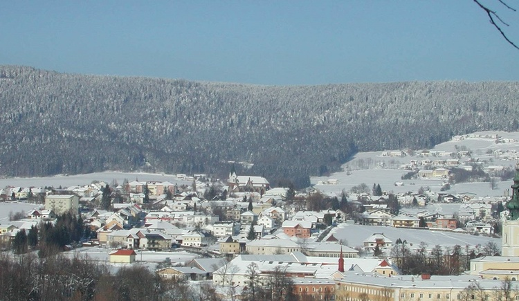 Panorama von Aigen-Schlägl Richtung Böhmerwald (© Marktemeindeamt Aigen-Schlägl / Miesbauer)