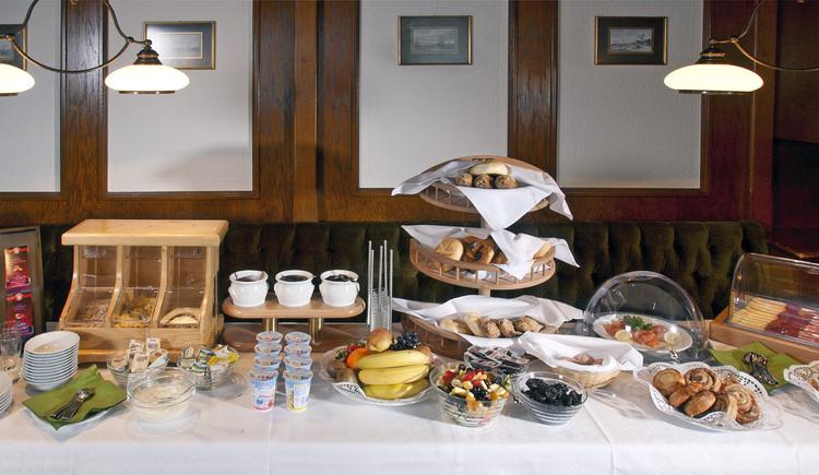 unser reichhaltiges Frühstücksbuffet lässt keine Wünsche offen