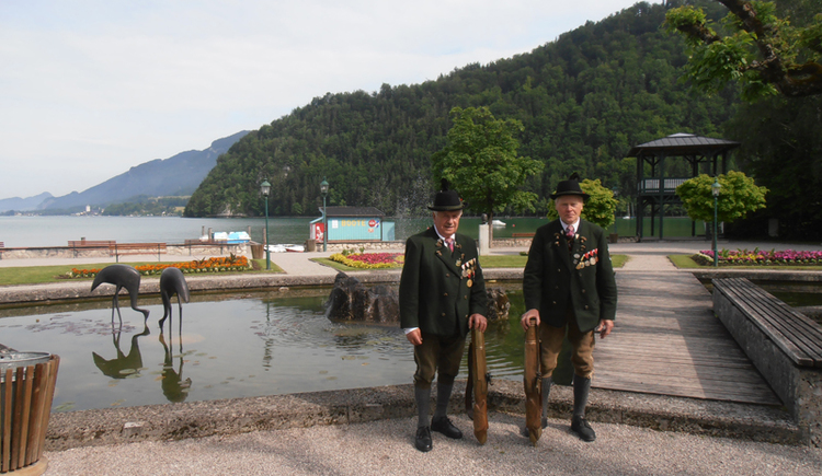 Traditional Music with Local Associations at lakeside promenade in Strobl