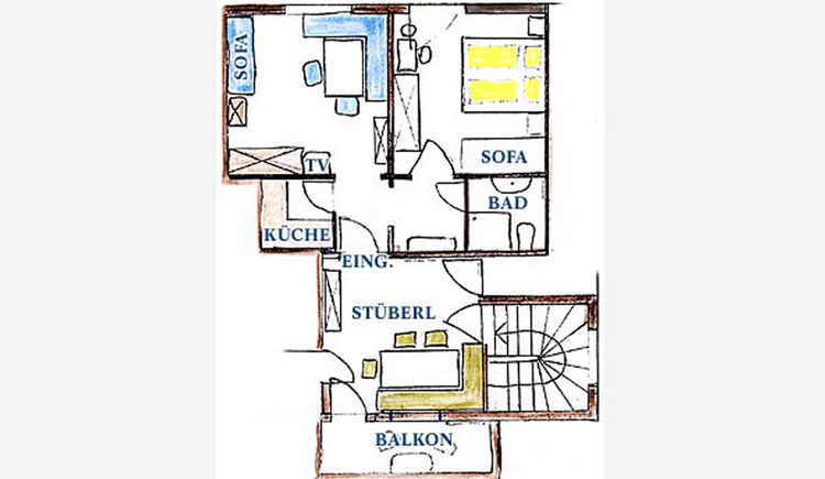 Blueprint of Holiday flat-Spatzennest, Room layout