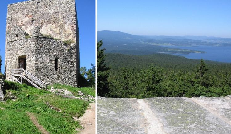 Die Ruine Wittinghausen in Tschechien befindet sich an dieser Route. (© Hackl)