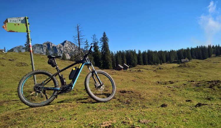 Das E-Bike auf den Gosauer Almen. (© Karl Posch)