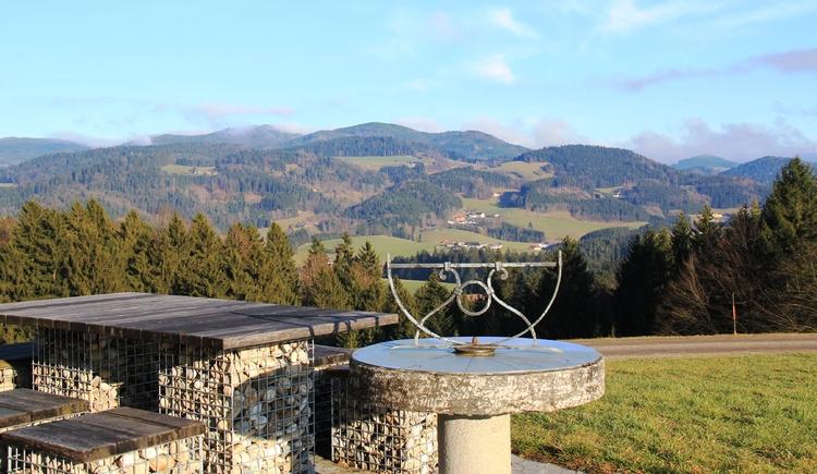 Blick über Waldhausen vom Alpenblick. (© LAG Strudengau - Manfred Hinterdorfer)