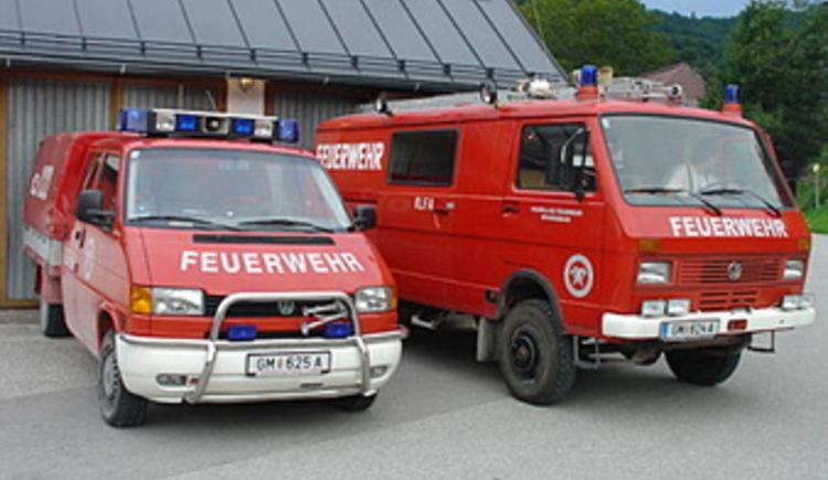 Fleet of the volunteer fire department Weissenbach in Bad Goisern
