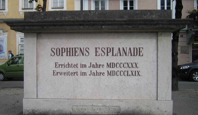Gedenkstein für Erzherzogin Sophie (© Ischler Heimatverein)