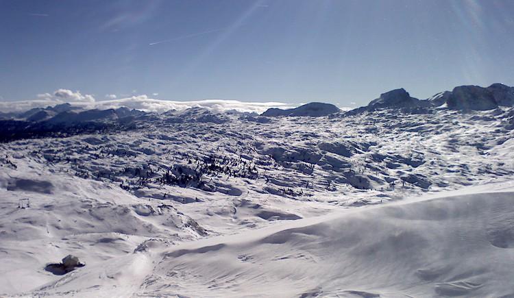 Wunderschöne Aufnahme von der märchenhaften Winterlandschaft am Dachstein Krippenstein. (© Ferienregion Dachstein Salzkammergut)