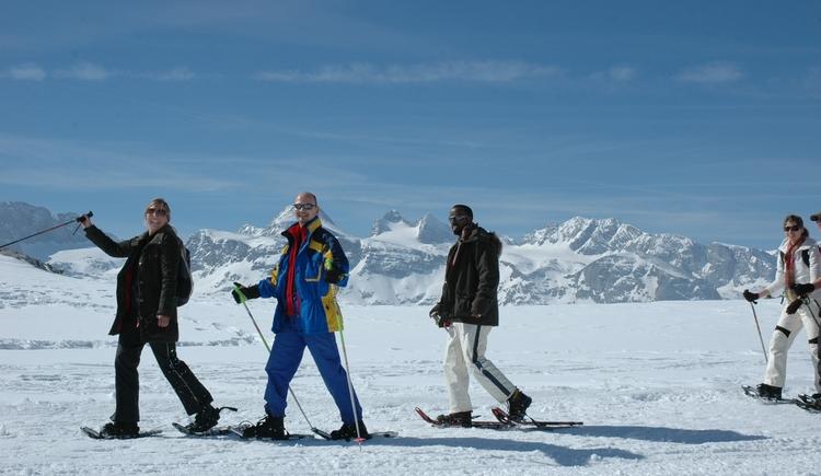Geführte Schneeschuh Touren am Dachstein in Gosau mit der Firma Outdoor Leadership. (© ©Heli Putz)