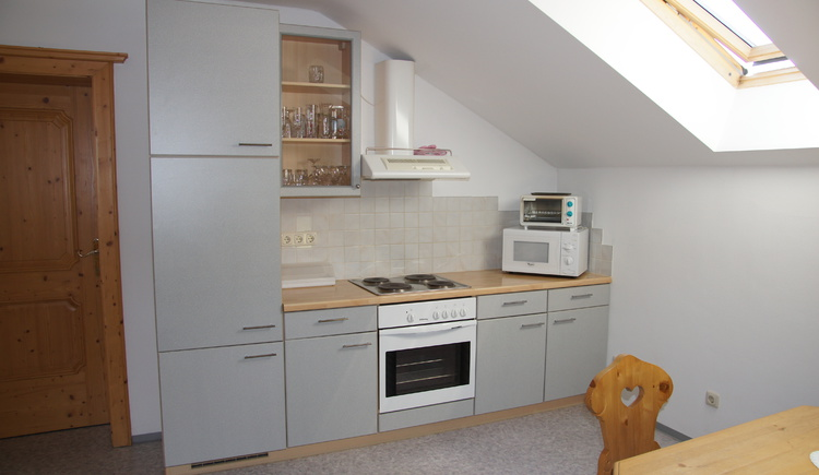 The fully equipped kitchenette in the apartment offers the possibility to prepare food