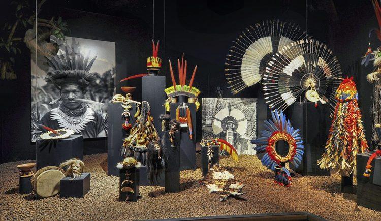Federschmuck und Schrumpfköpfe der Schamanen Südamerikas