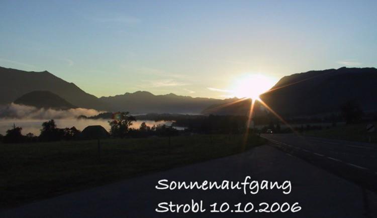 Sonnenaufgang am Wolfgangsee
