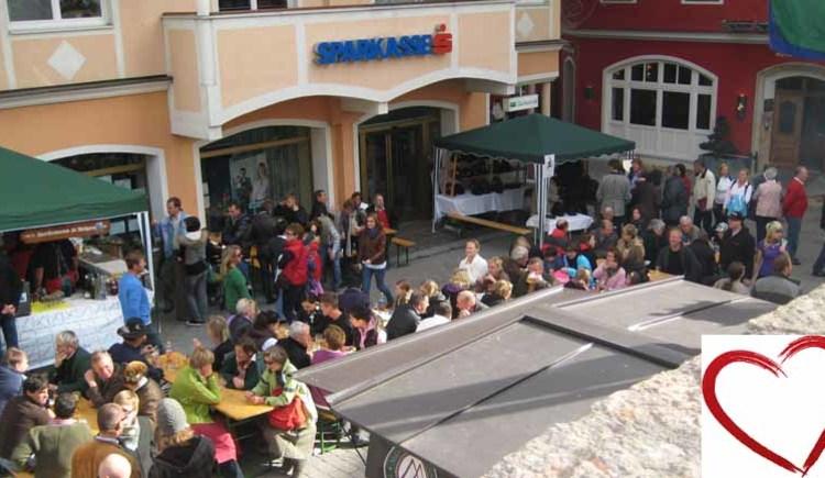 Market for St. Wolfgang's patron saint, centre, St. Wolfgang, Salzkammergut