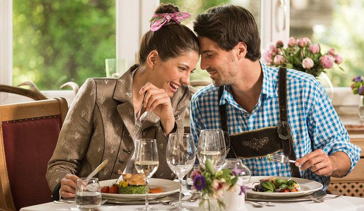 Genießen Sie österreichische Küche im Restaurant des Landhotel Eichignerbauer in St. Lorenz am Mondsee