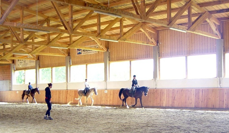 Reiten in der Halle am ***Ramlhof (© ***Sportpension Ramlhof)