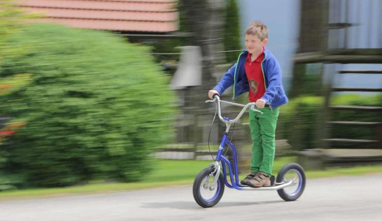 Roller fahren (© Bammer im Herndlberg)
