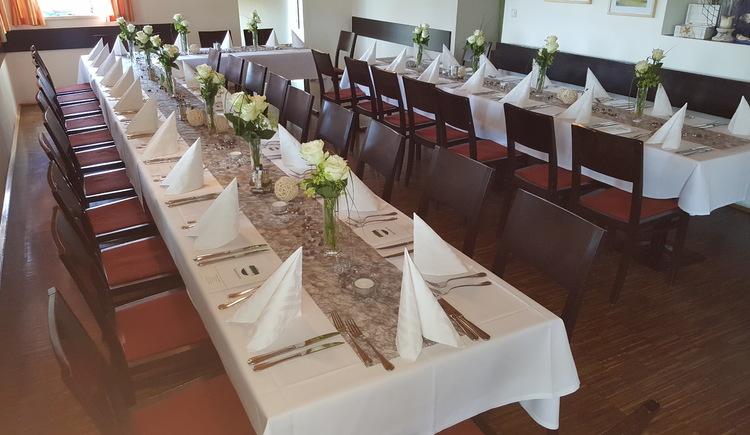 Gaststube Tafel für Hochzeit