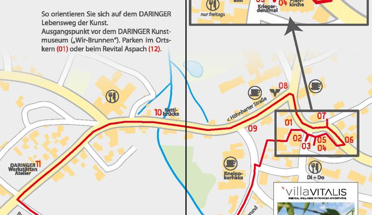 Daringer-Lebensweg (© Daringer Kunstmuseum)