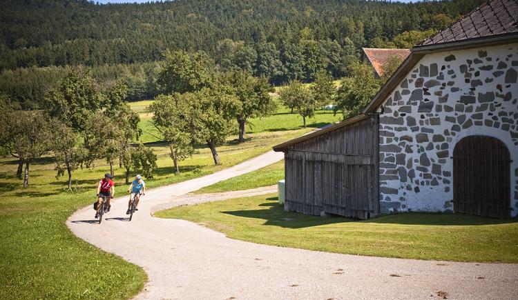 Mühlviertler Radweg in Oberösterreich - Mühlviertler Steinbloßhaus am Grenzlandradweg. (© ©OÖ.Tourismus/Erber)