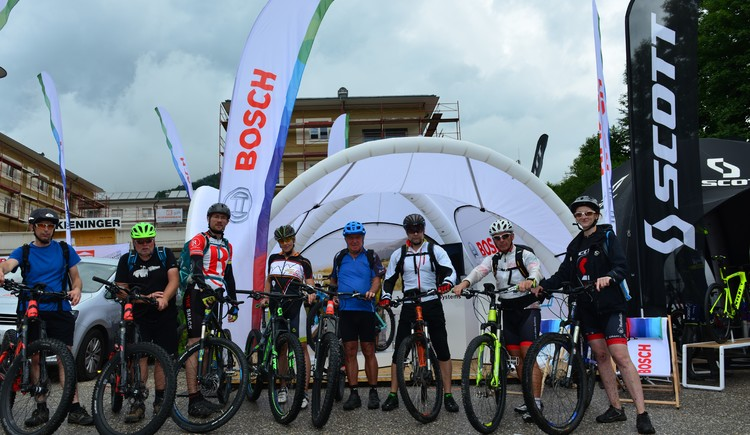 At the Trophy weekend guided e-MTB tours are offered by the company Bosch.