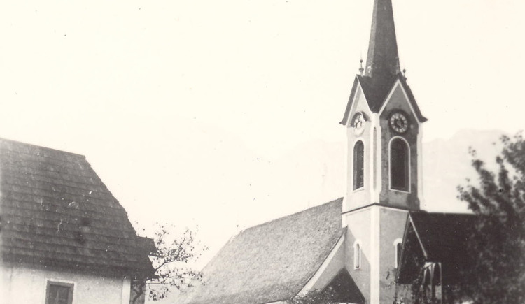 Bild der evangelischen Kirche Bad Goisern früher