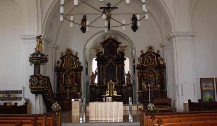 Pfarrkirche innen (© Tourismusbüro Ebensee, Spengler)