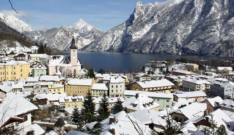Ebensee am Traunsee im Salzkammergut im Winter. (© MTV Ferienregion Traunsee - Tourismusbüro Ebensee)