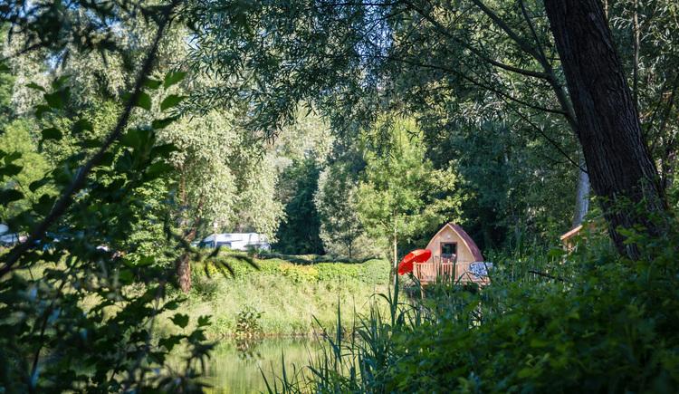 Camping Au an der Donau, Hütte Kuckucksnest. (© Gerhard Ebner)