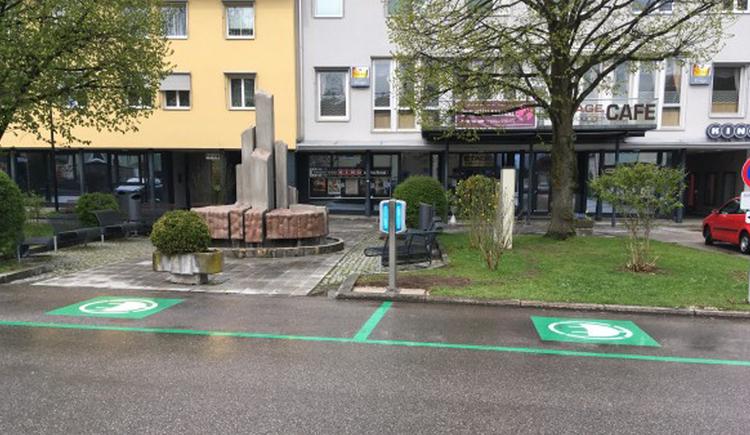 E-Tankstelle am Hauptplatz in Lenzing