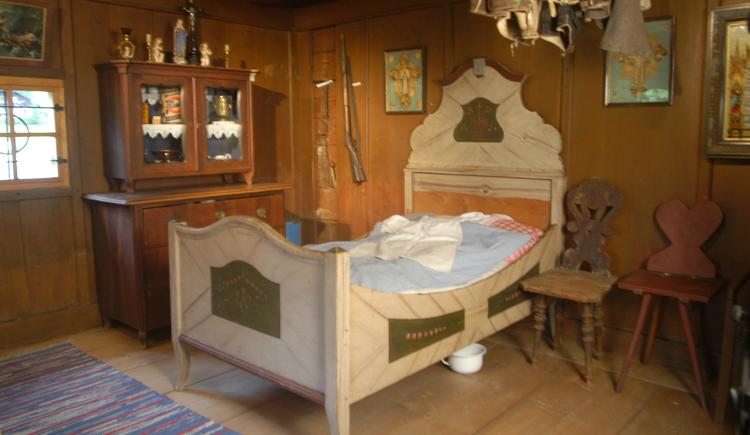 Schlafraum im Heimtamuseum 'Lipphaus' in Strobl